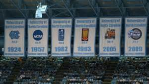 UNC Basketball National Championship Banner