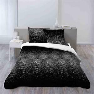 Parure De Lit Noir : douceur d 39 int rieur constella parure de lit noir ~ Melissatoandfro.com Idées de Décoration
