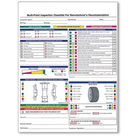 bureau inspection automobile 2 part vehicle inspection form car dealership forms