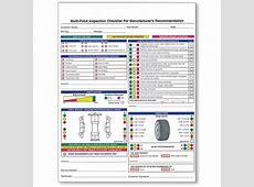 2Part Vehicle Inspection Form Car Dealership Forms