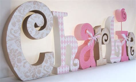 Baby Room Decor Decorative Name Letters