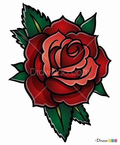 Tattoo Rose Draw Step Tutorials