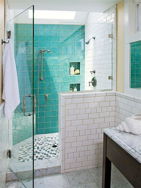 Bathroom Tile Design Ideas  Turquoise, Shower Floor And Tiles