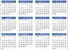 Calendar 2007 Start On Sunday Vector Stock Vector Art