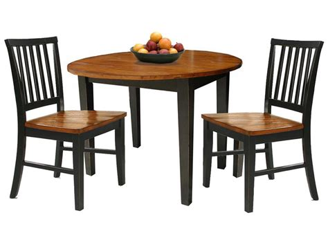 dining table set for 2 3 piece dining set with two drop leaves by intercon wolf
