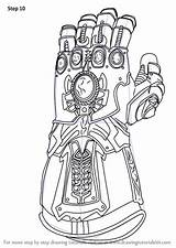 Coloring Gauntlet Infinity Marvel Legends sketch template