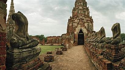 Thailand Heritage Wat Ayutthaya Unesco Site Historical