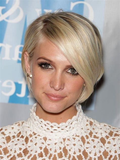 photo  oval face shape short haircuts