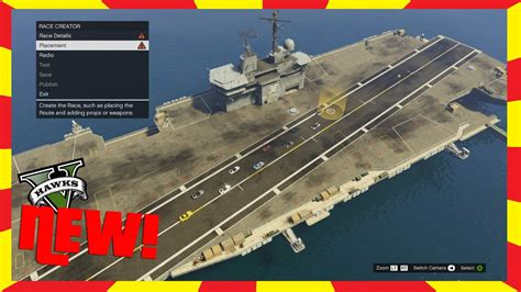 Gta 5 New Aircraft Carrier In Creator And Freemode (xbox