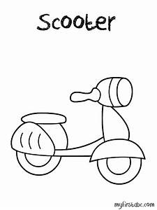 Scooter Coloring Page - My First ABC