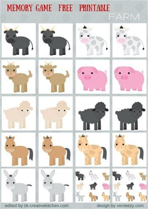 animals memory game  printables preschool baby pinterest helpful hints head