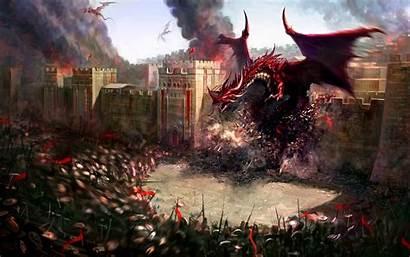 Fantasy Dragons Dungeons Digital 3d Creatures Dragon