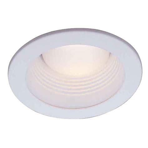 recessed lighting trim electric 4 in white recessed baffle trim