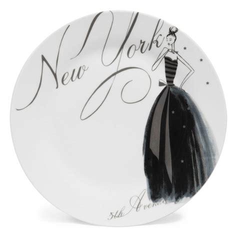 chambre garcon york assiette plate en porcelaine blanche d 27 cm nyc modeuse