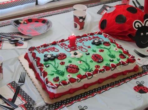 ladybug 1st birthday supplies and cake for more