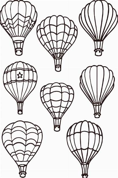 Air Balloon Coloring Balloons Drawings Tattoo Drawing
