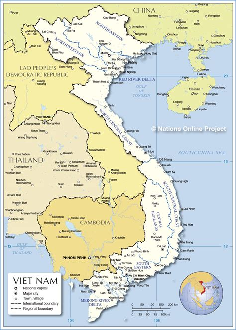 map  south vietnam cities  travel information