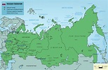 Map of Russia - Guide of the World