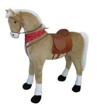 sweety toys  xxl pferd stehpferd giant pferd goldie