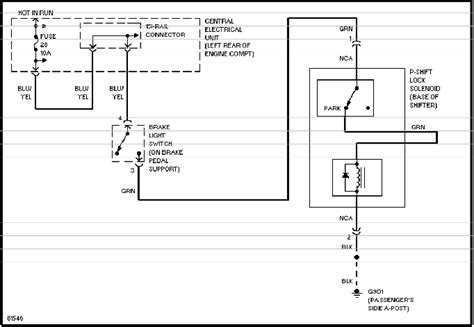 Shift Lock Volvo 850 Wiring Diagram by Volvo 850 Automatic Transmission Service Manual