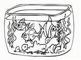 Colorear Paisajes Coloriage Coloring Pecera Aquarium Dibujo Dibujos Akwarium Imprimir Imprimer Pond Acuario Imagui Rybki Tank Kolorowanki Colorir Clipart Peces sketch template