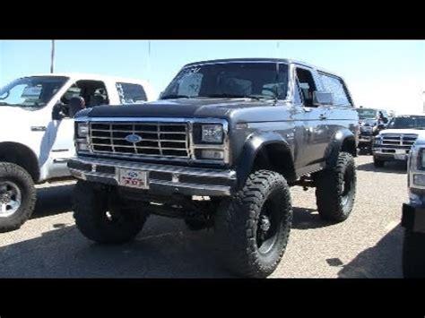 powerstroke turbo diesel swapped bronco youtube