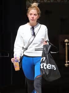 Ashley Benson Blue Tights