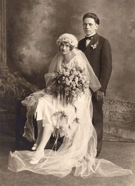 Antique Photo Bridal Couple Wedding Photo Early 1900s