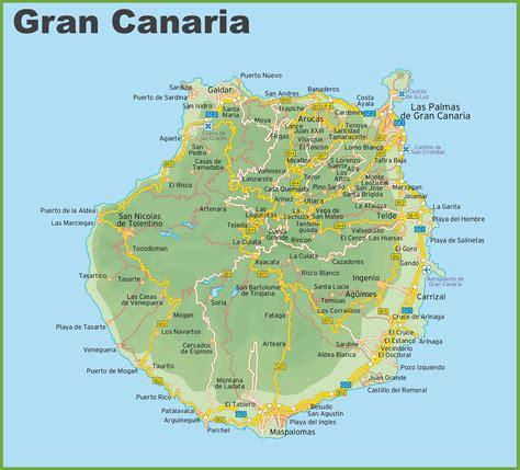 Gran Canaria Karte Mit Hotels