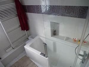 jean marc sol installation salle de bains cles en main With baignoire avec douche et porte