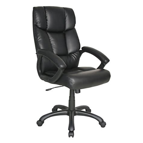 fosner high back chair office depot realspace merrick high back bonded leather chair 48 716 h