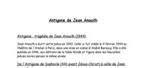 resume d antigone jean anouilh