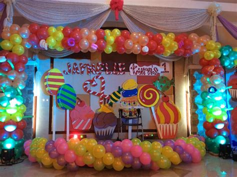 candy land theme stage design balloon decorations