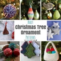 27 knit christmas tree ornament patterns allfreeknitting com