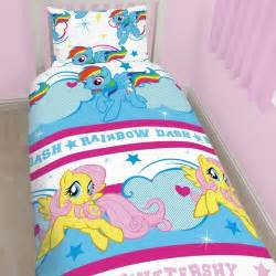 my little pony dash rotary bed set single duvet cover