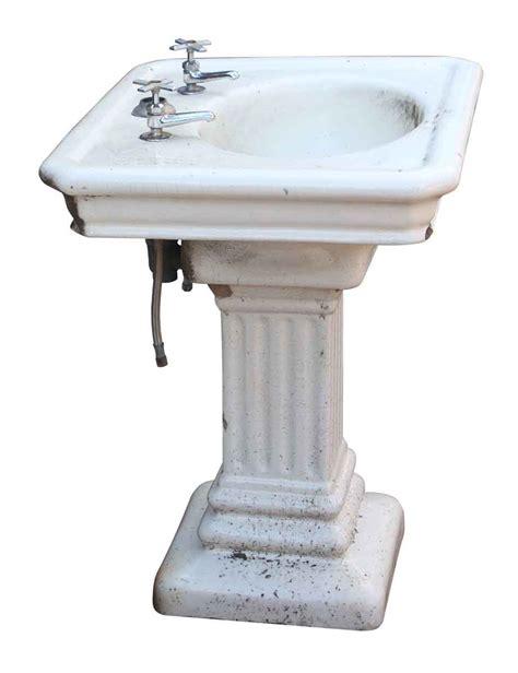 pedestal sink base fluted pedestal base earthenware sink olde things