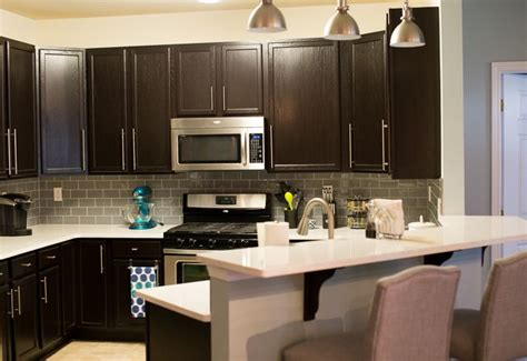 small cabinets for kitchen kitchen remodel with general finishes java gel stain 5358