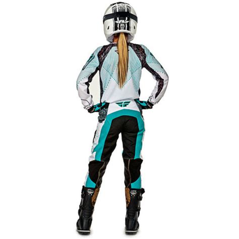 female motocross gear fly racing ladies new 2016 mx kinetic race teal white