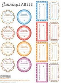 Free Printable Canning Jar Label Templates