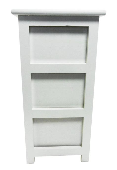 assembled white 3 chest of drawers bedside table bathroom