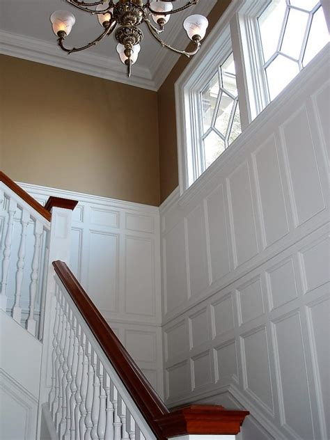 wainscoting  stairs  winchester millwork  builders