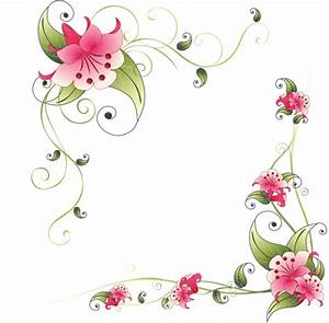 Colorful Floral Corner Borders Png