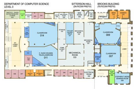Floor Plans For Sitterson Hall & Brooks Building