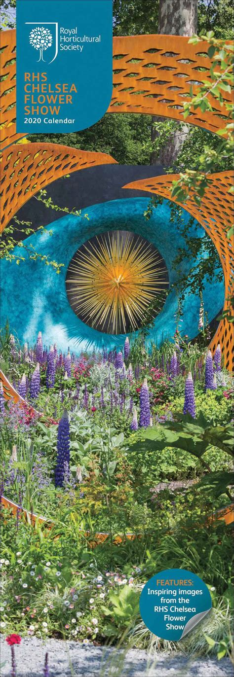 rhs chelsea flower show slim calendar calendar club uk