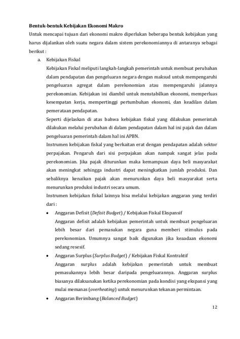 Kebijakan makro ekonomi kel 2 DIV STAN 8B BPKP 2013/2014