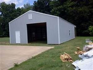 30x50x12 with 30x12 gable overhang post frame building With 30x50x14 pole barn