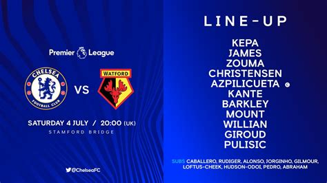 Watch Chelsea vs Watford Live Streaming Match #CHEWAT ...
