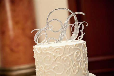 swarovski wedding cake toppers crystal monogram cake toppers