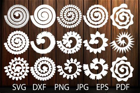 rolled paper flower templates svg  rose svg origami