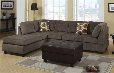 Microfiber Sectional Sofa by Object Moved